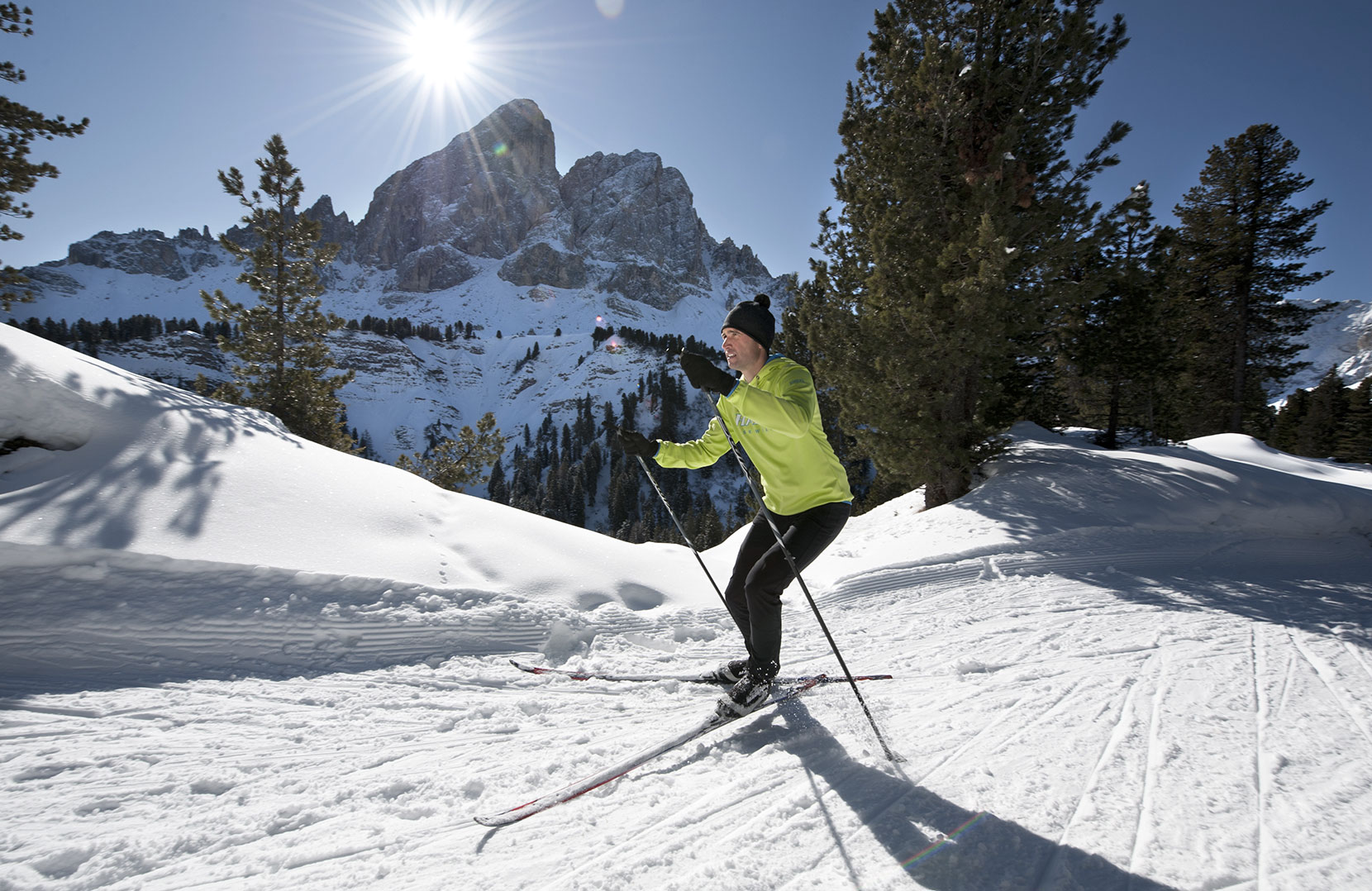 Enjoy cross-country skiing