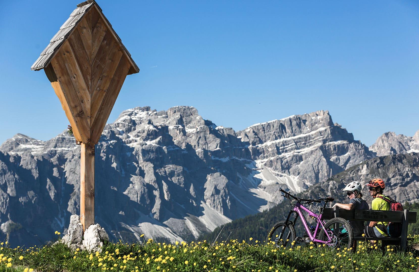 Biking on the summit